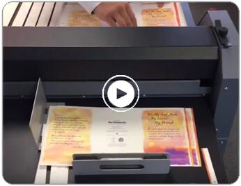 CreaseStream Junior 75 greetings card video button