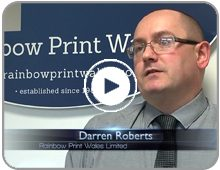Rainbow Print Wales Client Testimonial Video Button