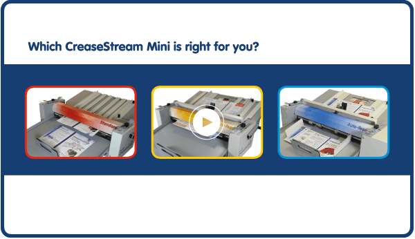 All Three CreaseStream Creasing and Perforating Machines