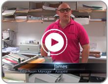 Azoprint London CreaseStream manual creasing digital finishing solution client testimonial video button